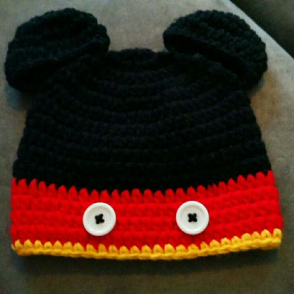 Mickey Mouse Baby Hat (Handmade) 3ff2cbc8d6f